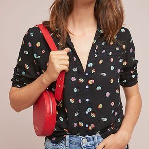 Anthropologie Colloquial Pintucked Buttondown